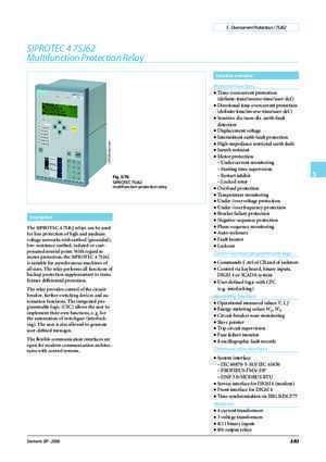 7sj62 SIPROTEC 4 7SJ62 Multifunction Protection Relay Siemens