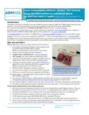 5 page 276 : Texas Instruments MSP432 Cortex -M4 Tutorial Using the
