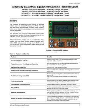 Bac pro bus can : Simplicity SE (SMART Equipment) Controls Technical Guide