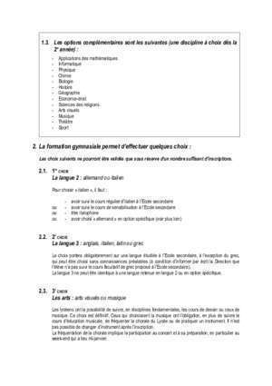 Biologia 3 liceu : Guide d inscription pdf Lycée cantonal de Porrentruy