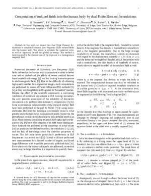 Computation of Induced Fields Into the Human Body by Dual ... - Hal