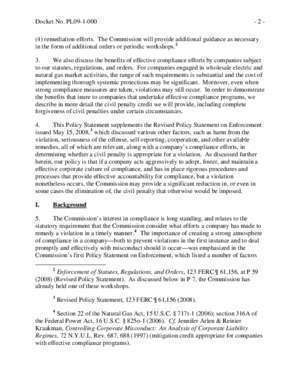 72 p62 : UNITED STATES OF AMERICA POLICY STATEMENT ON