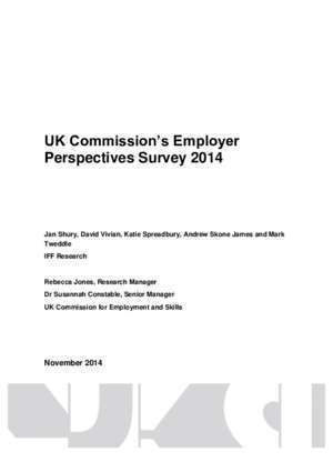 37 p134 : Employer Perspectives Survey 2014 UK Results
