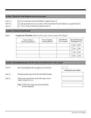 Form I-912, Request for Section 2. Additional Information