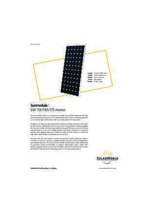 155 165 : SW 155 165 175 Texas Solar Power Company