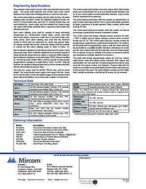 5673 6 : Engineering Specifications Mircom