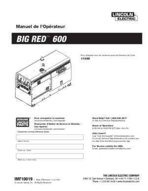 BIG RED™ 600 - Lincoln Electric
