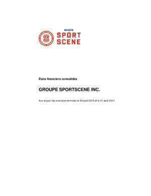 GROUPE SPORTSCENE INC. - cage.ca