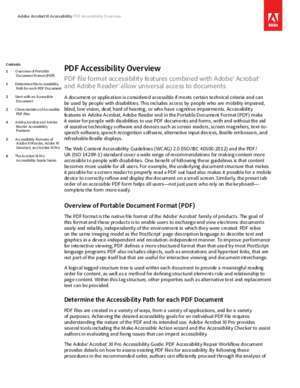 PDF Accessibility Overview - Adobe Systems