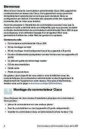 Cisco 300 Series Managed Switches Quick Start Guide (French)
