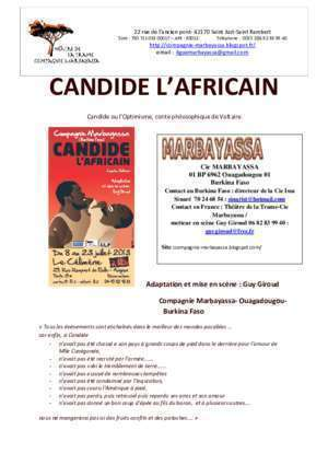 candide- dossier complet - Compagnie Marbayassa