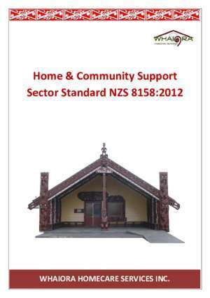Home & Community Support Sector Standard NZS 8158:2012