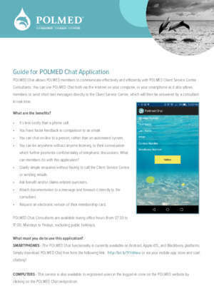 Application blackberry : Guide for POLMED Chat Our Investment