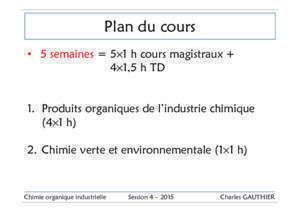 Chimie Organique Industrielle - The Gauthier Research Group