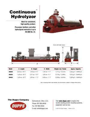 Continuous Hydrolyzor - Welcome to Dupps