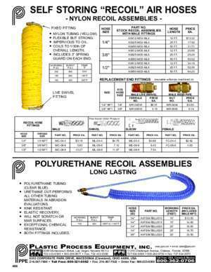 13 0466 : SELF STORING RECOIL AIR HOSES ppe com
