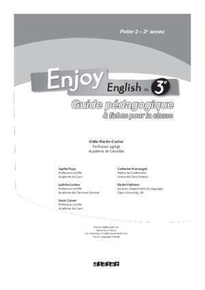 English in - Editions Didier
