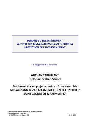 AUCHAN CARBURANT Exploitant Station-Service Station