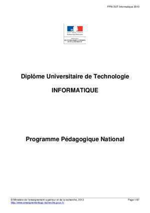 Brogramation informatique : Ppn informatique IUT d Orsay