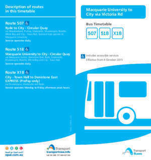 507 56 : Route 507 Bus Timetable Ryde to City Circular