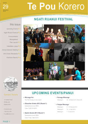 1 in touch planty : NGATI RUANUI FESTIVAL