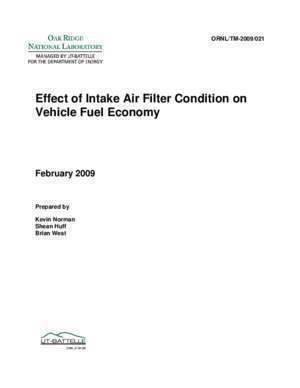 Air condition : Effect of Intake Air Filter Condition on Vehicle Fuel