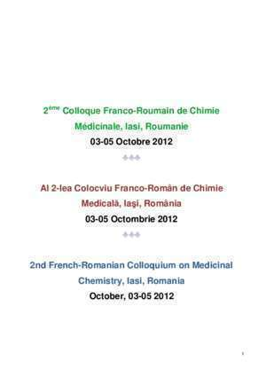 2eme science : 2ème Colloque Franco-Roumain de Chimie