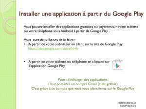 Tlcharger l'application pdf : Installer une application à partir de l Android Market