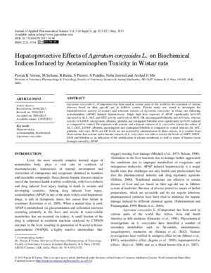 Anova ps : Hepatoprotective Effects of Ageratum conyzoides L on