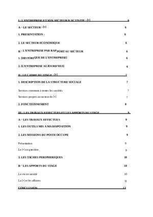 Modele rapport stage bac pro cgea - Document PDF