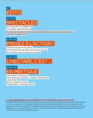 Programme - L'Hectare