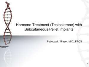 Am fu pms : Hormone Treatment (Testosterone) with Subcutaneous Pellet