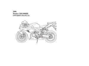 1000 cbr rr manuel 22 : This manual should be considered a permanent part of the