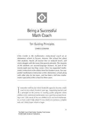 130012 : Being a Successful Math Coach