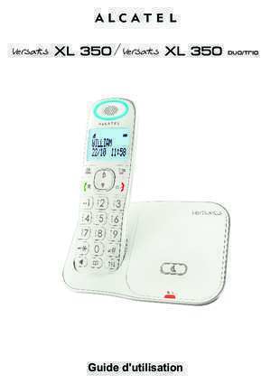 Alcatel 350 : Versatis XL 350 fr Versatis XL350 alcatel-home com