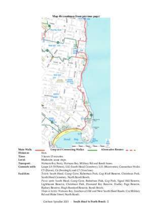 CIRCULAR UAY TO SOUTH HEAD AND LOVELLY MAIN WALK SECTION