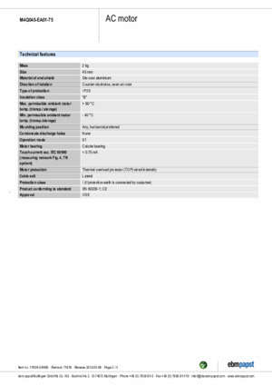 11009 0 : Product data sheet M4Q045EA0175 RS Components