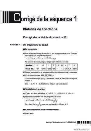06 correction exercices resolution d'une equation non lineaire : Corrigés des exercices Académie en ligne