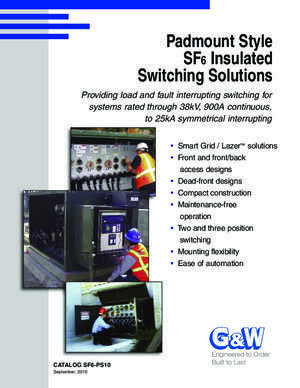 125 tzr 4 f : SF 6 Insulated Switching Solutions G&W Electric