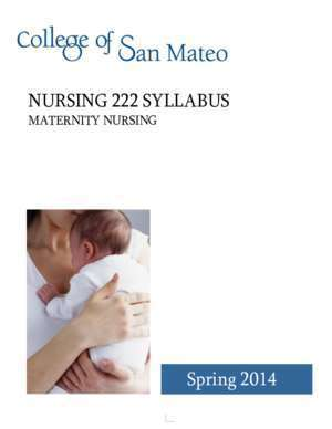 NURSING 222 SYLLABUS - College of San Mateo