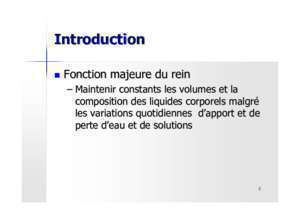 Physiologie des liquides corporels