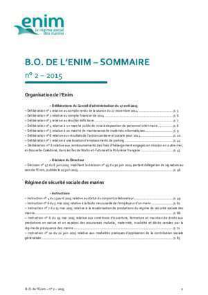 Bulletin de liaison inter regime : Bulletin officiel de l Enim n°2