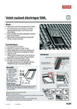 branchement volet roulant velux notices et pdf gratuits. Black Bedroom Furniture Sets. Home Design Ideas