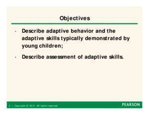Adaptive : Assessing Adaptive Behavior in Young Children Pearson